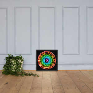 432 Hz Framed poster - Black Background