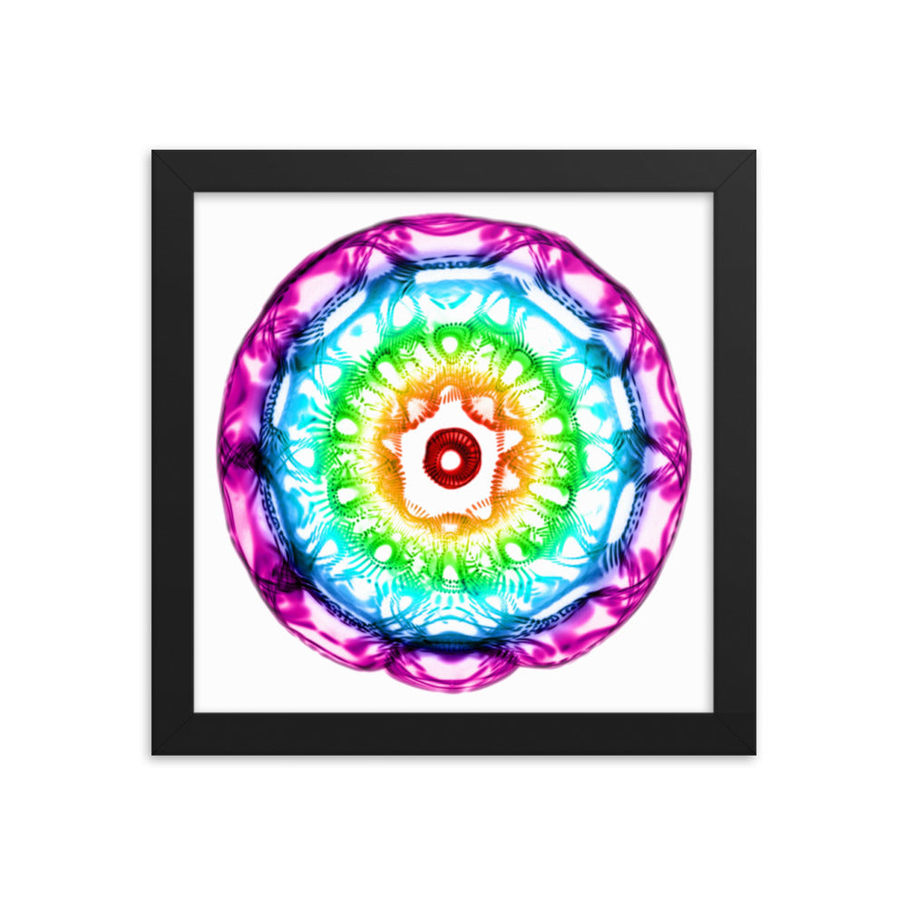 432 Hz Framed photo paper poster