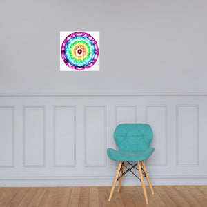 432 hz Photo paper poster - unframed