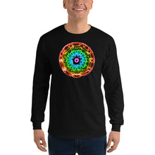 Load image into Gallery viewer, Men's 432 Hz Red to Purple  Long Sleeve Shirt