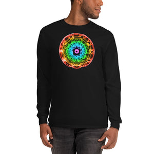 Men's 432 Hz Red to Purple  Long Sleeve Shirt