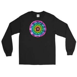 Men's 432 Hz Purple to Red Long Sleeve Shirt