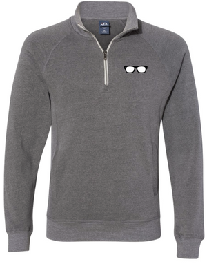 Maddon's Post Men's Glasses Logo Quarter Zip Pullover | Maddon's Post