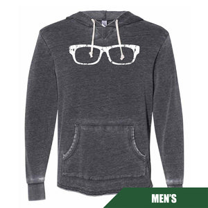 Maddon's Post Men's Glasses Logo Burnout Schoolyard Hoodie | Maddon's Post