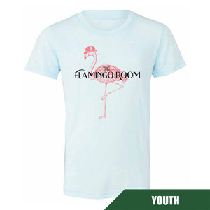 Maddon's Post Youth Flamingo Room Ice Blue Tri-blend Tee | Maddon's Post