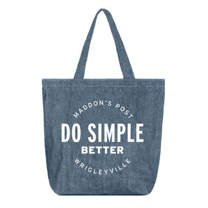 Maddon's Post 'Do Simple Better' Soft Washed Denim Tote | Maddon's Post