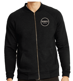 Maddon's Post Men's Circle Logo Full Zip Bomber Jacket | Maddon's Post