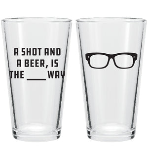 Maddon's Post 'A Shot and a Beer' Pint Glass | Maddon's Post