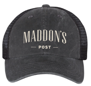 Maddon's Post Black Mesh Adjustable Strapback Cap | Maddon's Post