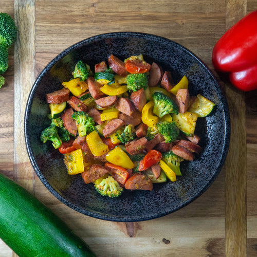 Sausage & Chopt Veggies - FitnessFeasts