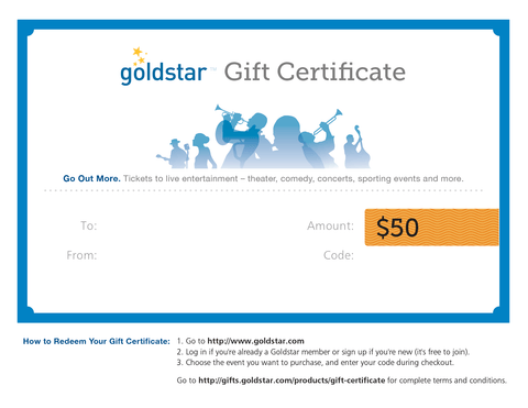 Goldstar coupon code