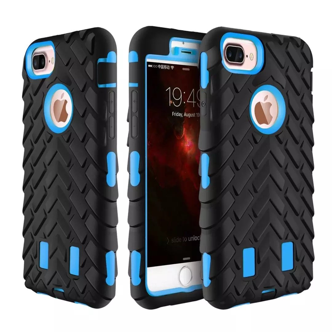 Tyre Grain Heavy Duty Hybrid Case Cover for iPhone 6 6s