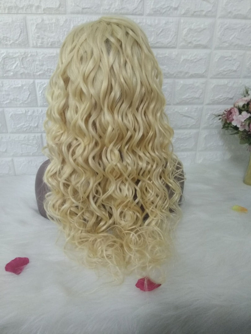 Russian Blonde Natural Wave Wig