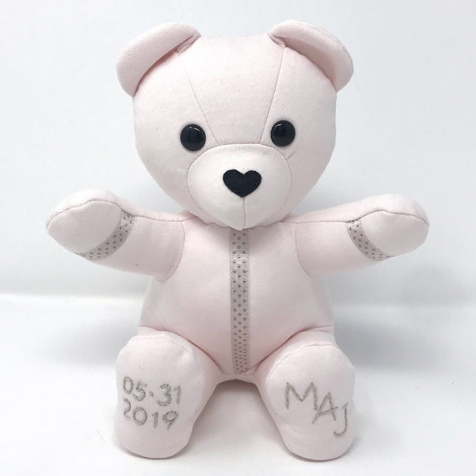Handcrafted Baby Keepsake Bear with Embroidery
