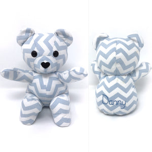 keepsake bear made from baby bedding