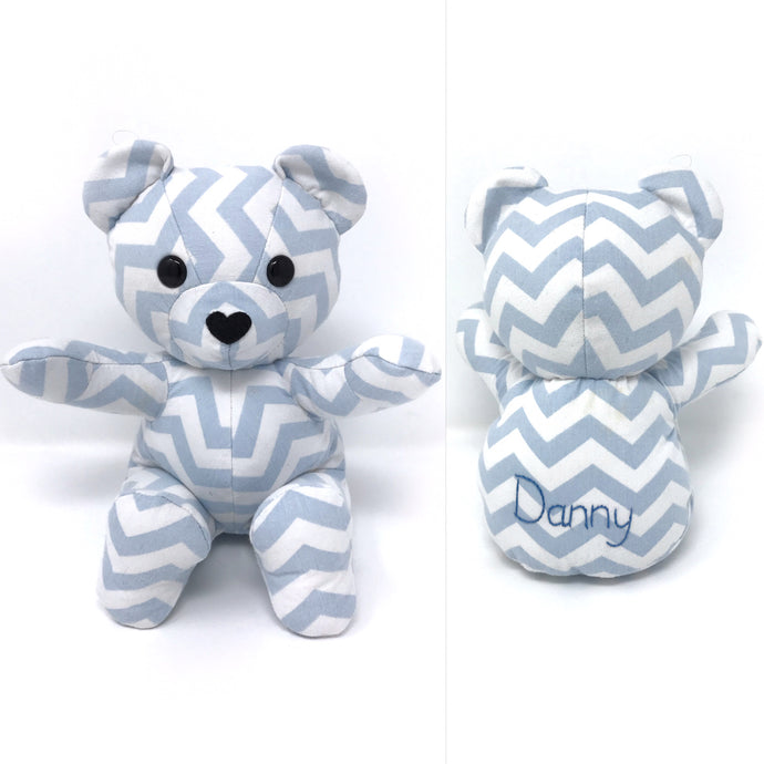 Keepsake Teddy made from Baby Bedding