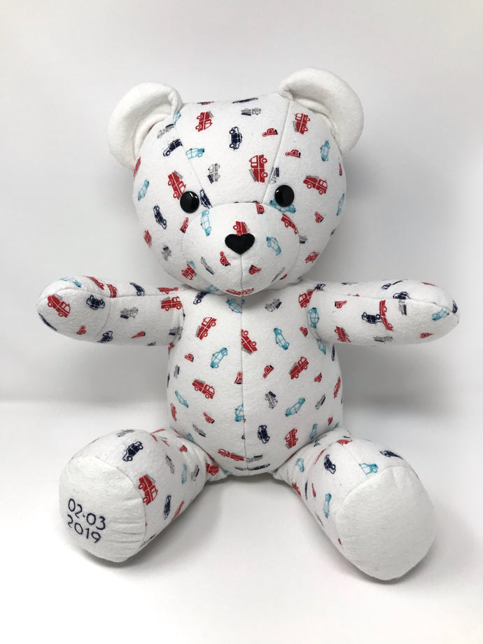 Birth Weight Bear Made from a Baby Blanket