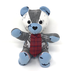 baby keepsake bear with tie