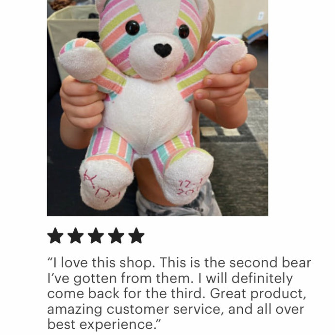 Baby Blanket Keepsake Bear Review