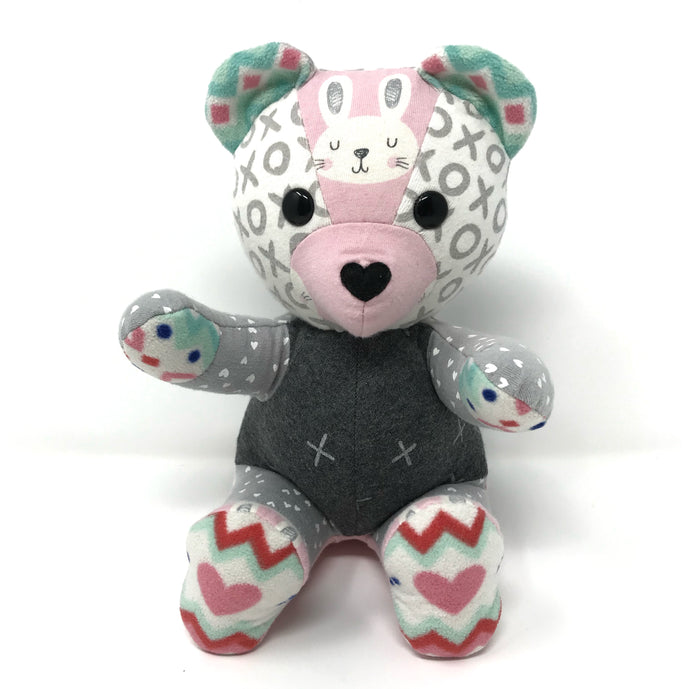 Patchwork Baby Clothes Keepsake Bear