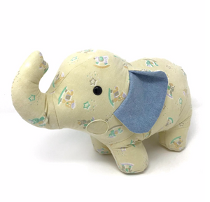 Tattered Baby Blanket Elephant