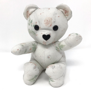 Memory Bear made from a Vintage Bed Sheet