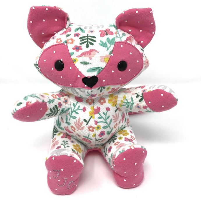 Memory Fox Made from Baby Clothes