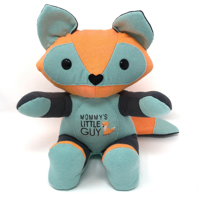 Keepsake Fox Made from Newborn Clothing