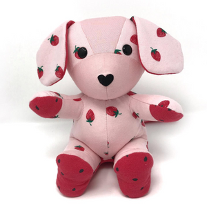 Strawberry Puppy Stuffed Animal