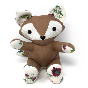 Linen & Floral Baby Keepsake Fox