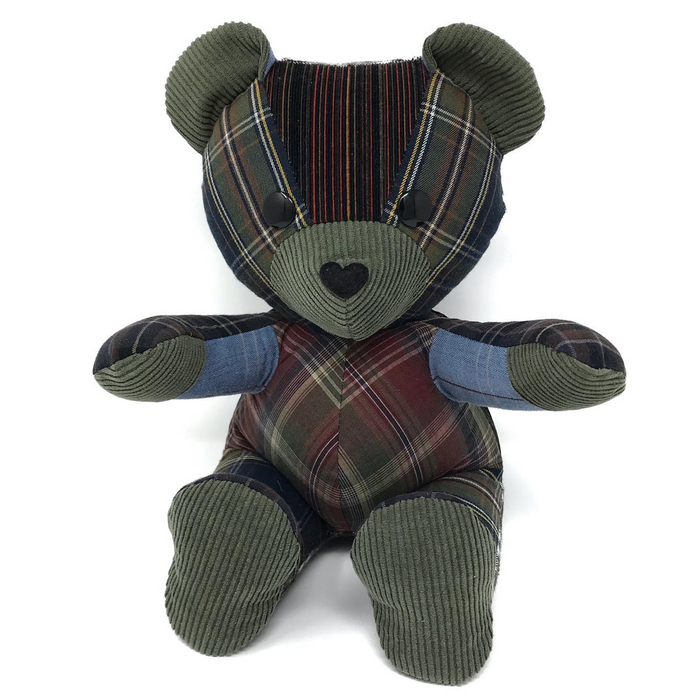 Memorial Teddy Bear Made from Clothes