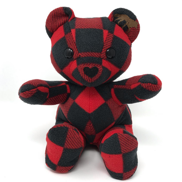 Buffalo Plaid Baby Keepsake Teddy Bear