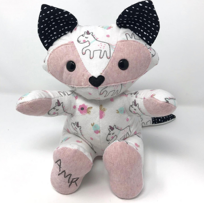 Baby's Coming Home Outfit Fox Stuffed Animal