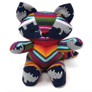 mexican blanket striped keepsake raccoon stuffed animal