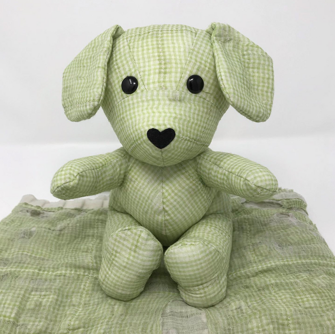 Keepsake Puppy made from a Vintage Baby Quilt