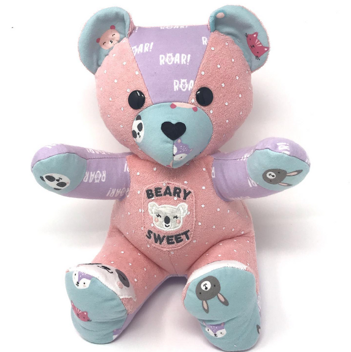 Patchwork Baby Clothes Bear