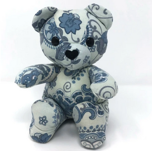 Baby Keepsake Bear Made from a Pillow Cover