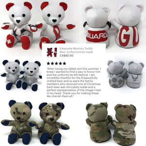 military uniform memorial bears
