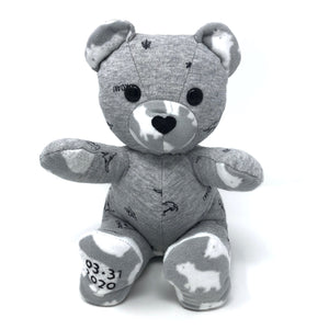 bear made from baby clothes