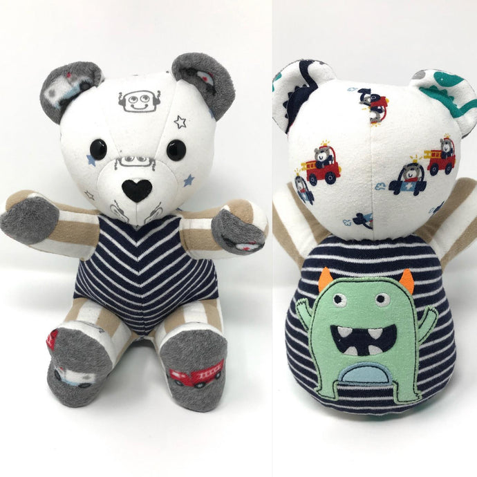 Patchwork Baby Clothes Keepsake Teddy