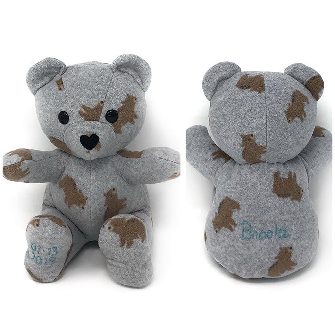 Embroidered Baby Memory Bear