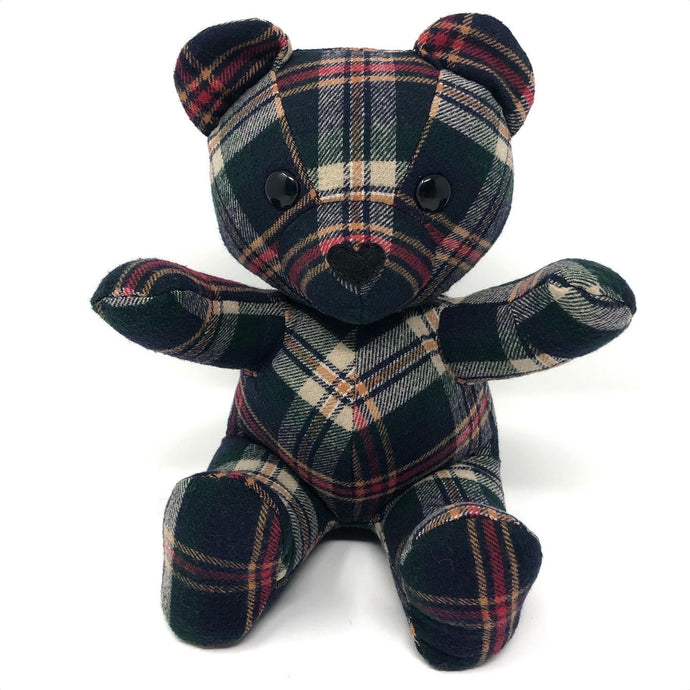 Flannel Shirt Memorial Bear