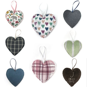 heart ornaments handmade