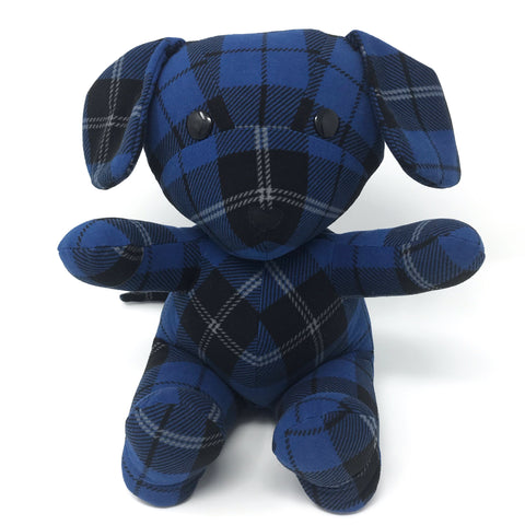 memory puppy made from pajamas