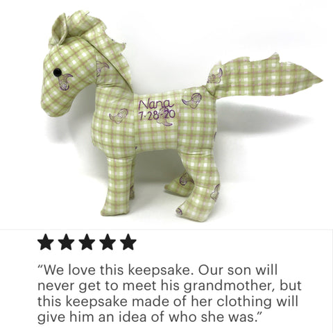 memorial horse stuffed animal