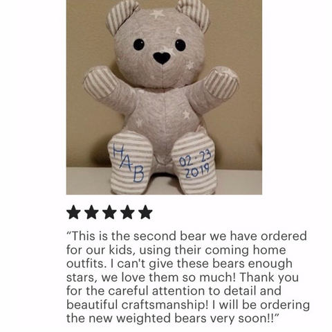 baby's coming home outfit keepsake bear