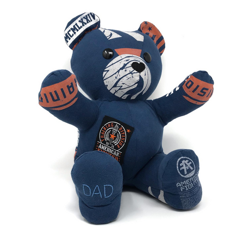 memory bear made from dad's t-shirt