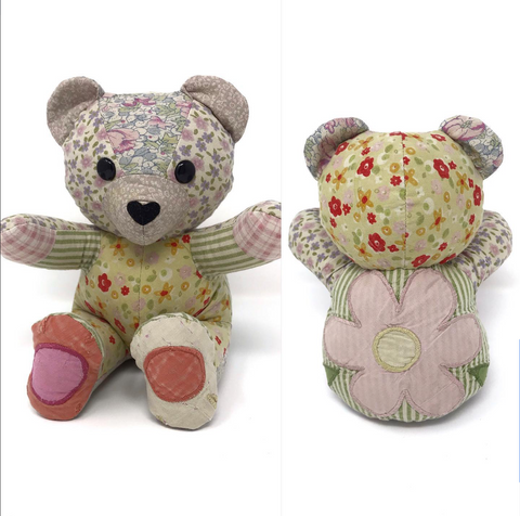keepsake bear from baby quilt