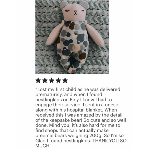 infant loss memory bear weighted