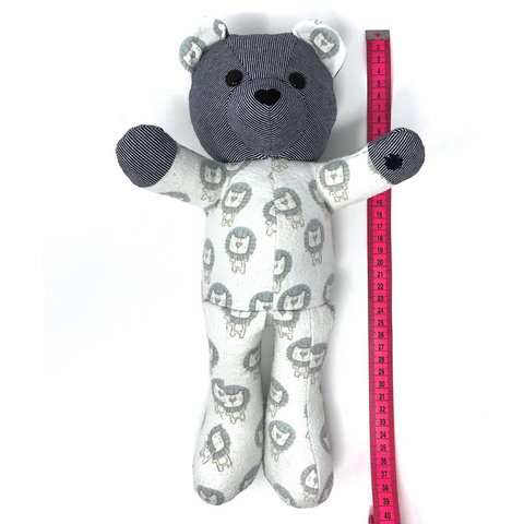 keepsake bear made to your baby's length at birth